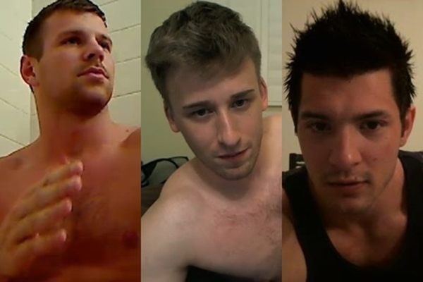 Hot athletic jocks Austin Price, Dmitry Dickov and Jesse Blum have a jacking off cam show at Gayhoopla