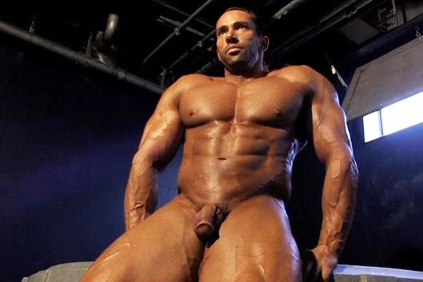 Rugged handsome and chiseled muscle hunk Pierce Shoots his hot white jizz in Muscle Up Close Part 3 at Jimmyzproductions