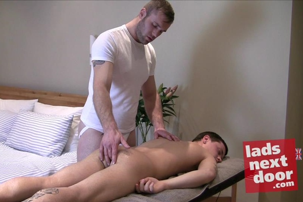 Hot beefy uncut Johnny Kent fucks cute straight twink Billy Rubenis at Ladsnextdoor