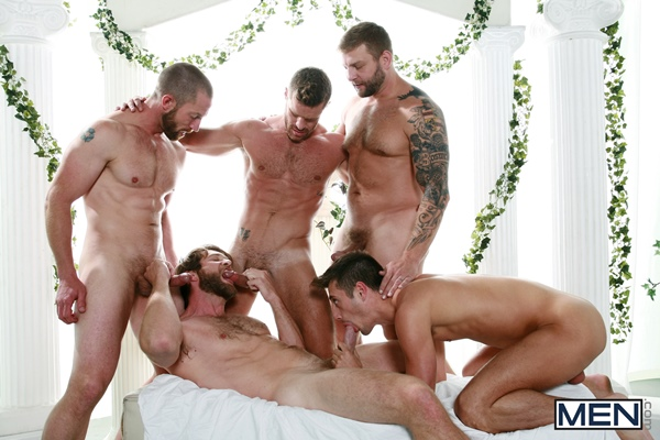 Hot muscular Colby Keller, Colby Jansen, Adam Herst and Landon Conrad fuck JD Phoenix in Sex Traveler Part 3 at Jizzorgy