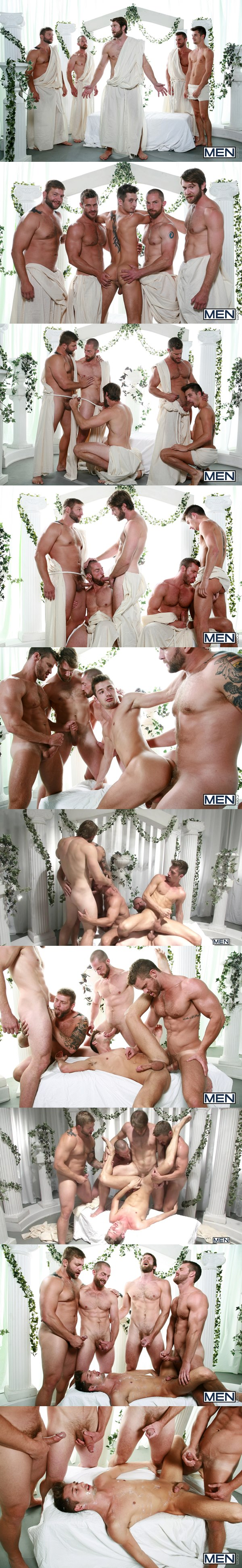 Hot muscular Colby Keller, Colby Jansen, Adam Herst and Landon Conrad fuck JD Phoenix in Sex Traveler Part 3 at Jizzorgy 02