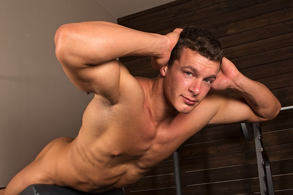 Handsome Gorgeous Cameron strokes his oversized cock and blows two huge loads at Seancody