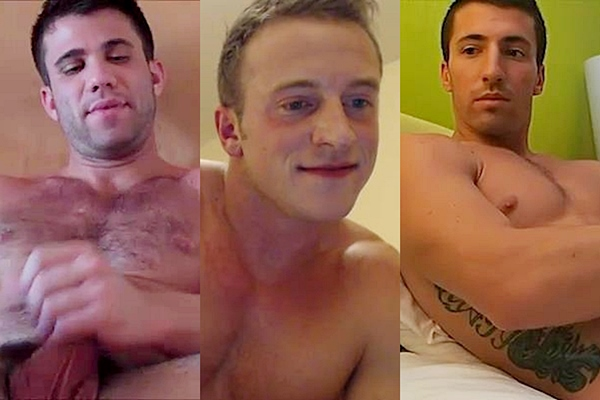 Handsome ripped muscle jocks Cole Money, Doc Tay Tay and Ray Ban have hot jacking off cam show at Gayhoopla