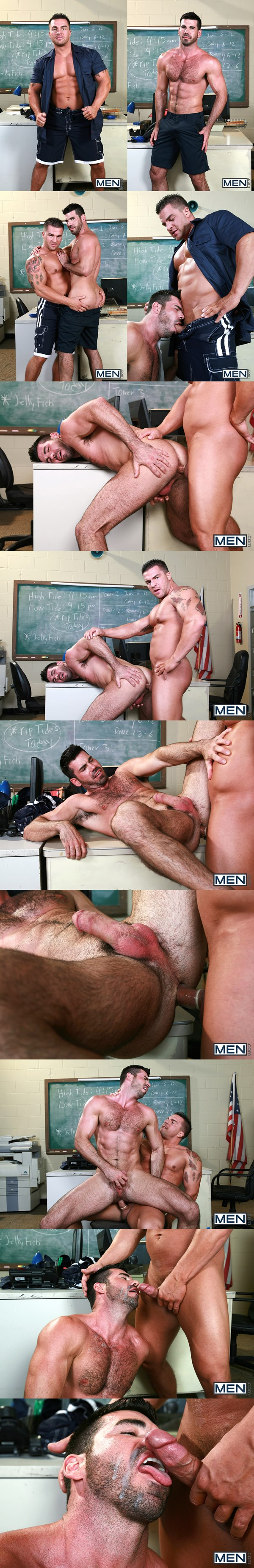 Masculine Braden Charron slams Billy Santoro's tight hairy muscle ass in Gaywatch Part 2 at Drillmyhole 02