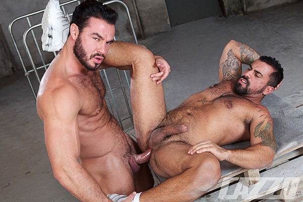 Real life lovers Jessy Ares & Ricky Ares flip-fuck with Ricky's bottoming debut at Cazzoclub