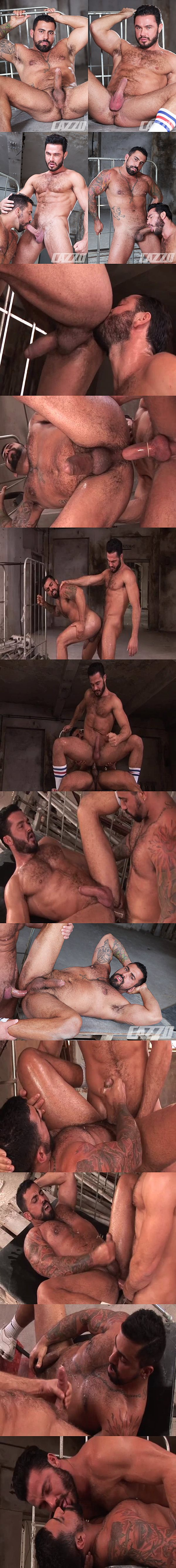 Real life lovers Jessy Ares & Ricky Ares flip-fuck with Ricky's bottoming debut at Cazzoclub 02