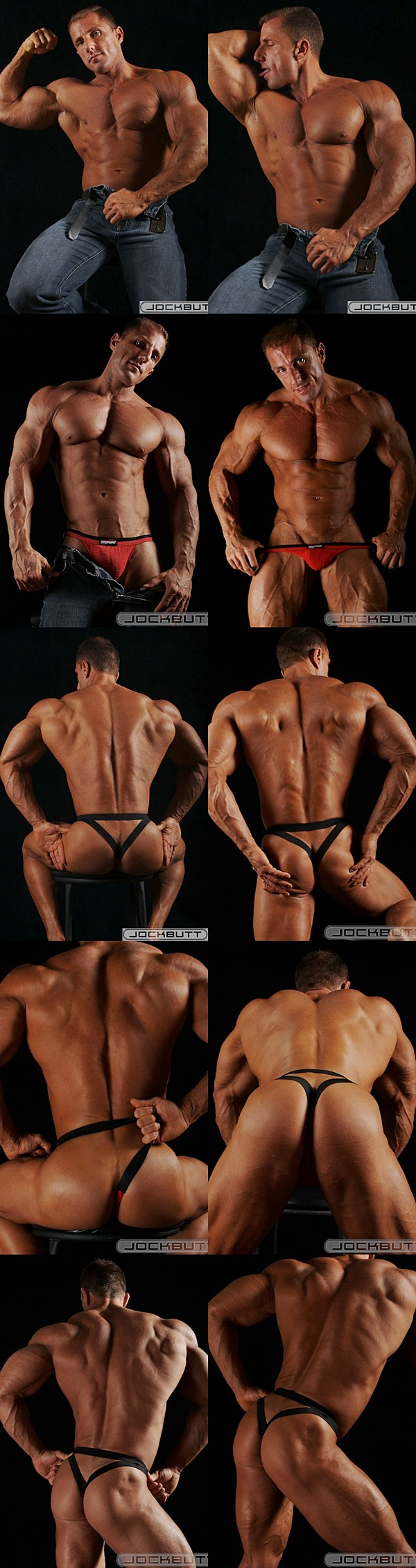 National level bodybuilder Johnny Cruise show off his amazing body and hot bubble butt at Jockbutt