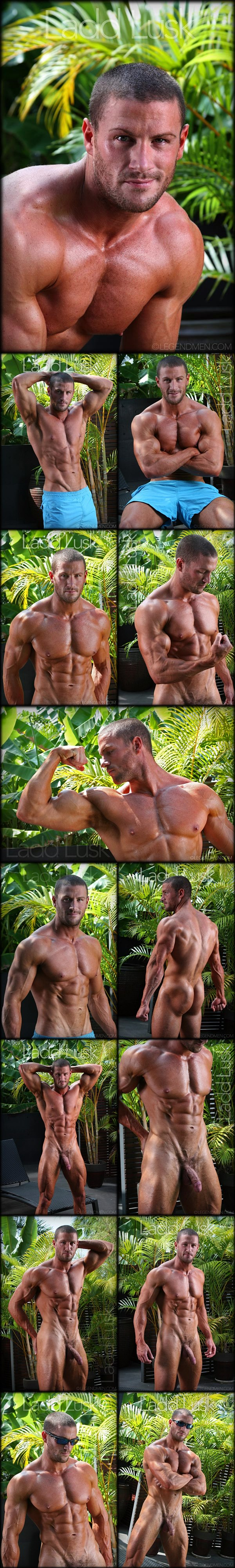 Super handsome hunk Ladd Lusk shows off his gorgeous hot body and beautiful uncut cock at Legendmen 01
