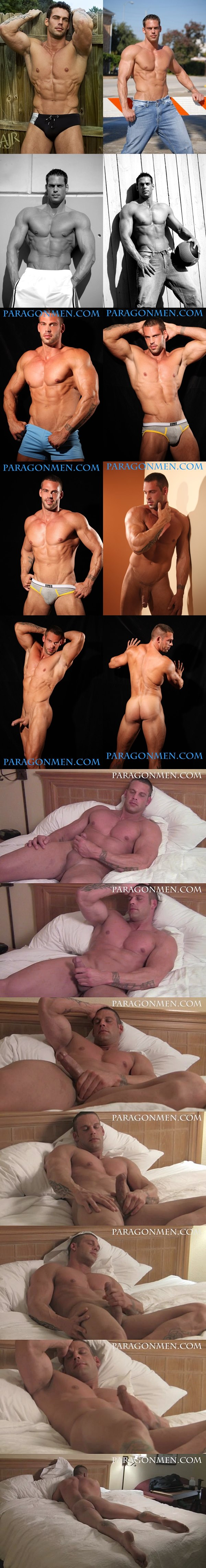 Man of the Year super handsome muscle hunk Trent West strokes his hard dick at Paragonmen 02