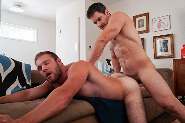 Super hot Chris Rockway fucks a huge load out masculine hairy Patrick Dunne at Randyblue