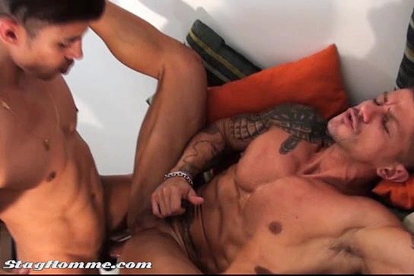 Hung Maykel Cash fucks the cum out of masculine Goran in Love Crash at Staghomme