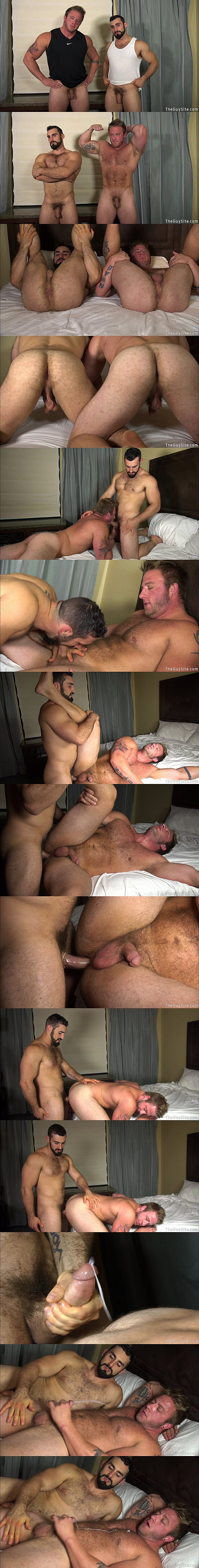 Macho Jaxton Wheeler fucks hot muscle hunk Aaron Bruiser's tight virgin ass in Popping Bruiser's Cherry at Theguysite 02