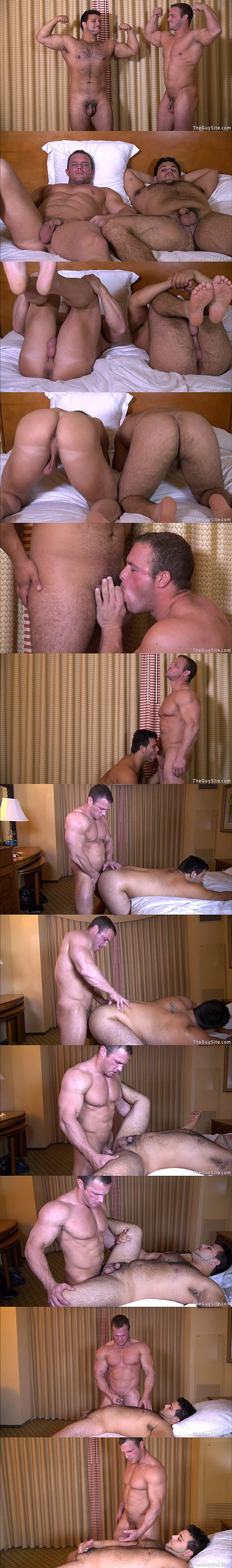 Big muscled straight hunk Zach fucks Marcello's hot furry ass at Theguysite 02