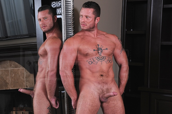 Hot masculine daddy Charlie Harding gets his tight virgin manhole fucked in Top to Bottom Part 5 at Men