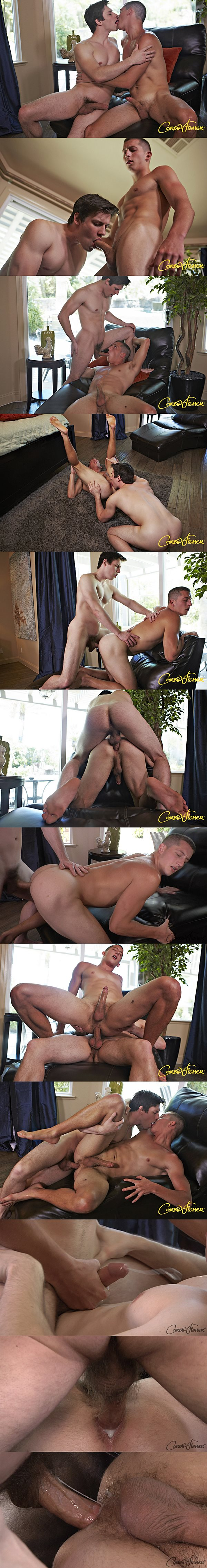 Handsome Kellan barebacks and creampies Easton in his tight virgin ass at Corbinfisher 02