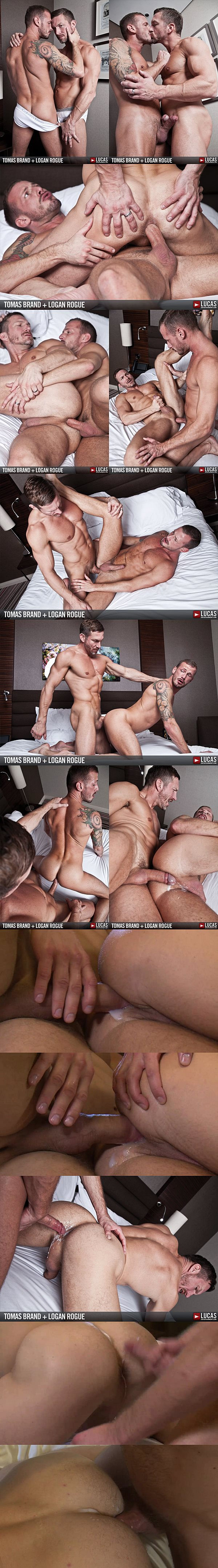 Real couple Tomas Brand & Logan Rogue have a hot bareback flip-flop with two hot breeding at Lucasentertainment