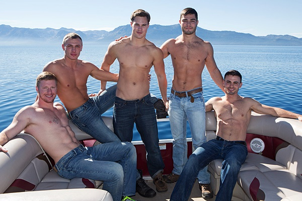 Andy, Bryce, Coleman, David and Tanner have a hot orgy and Bryce gets creampied in Mountain Getaway Day 2 at Seancody