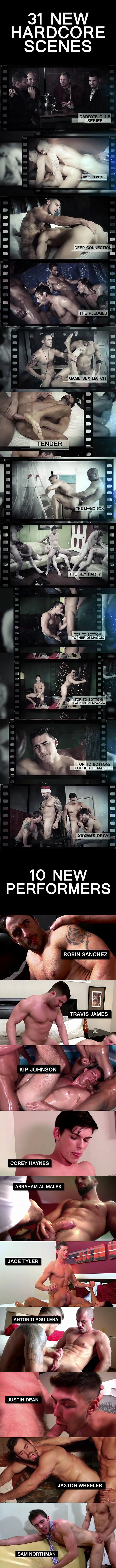 31 hot new scenes will be released at Men.com in December, including Topher DiMaggio's bottoming debut in Top to Bottom Part 6 at Men 01