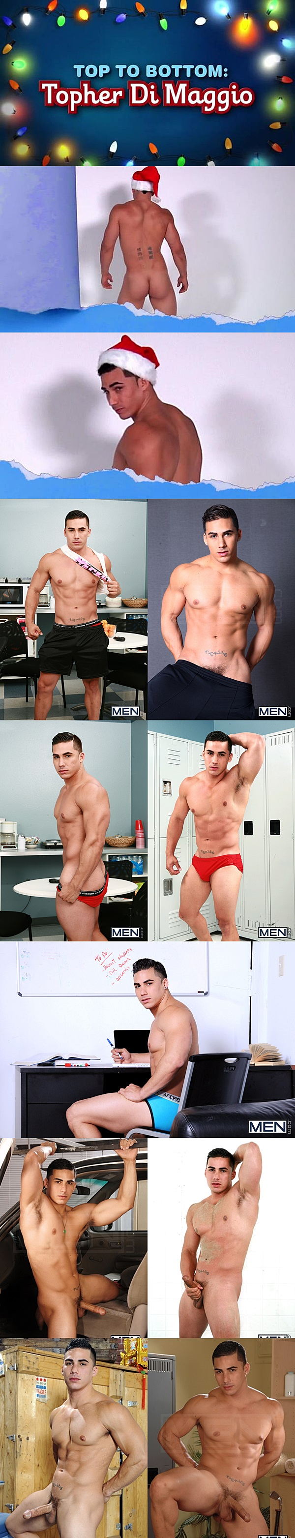 Top only star Topher DiMaggio gets his virgin ass popped up in Top to Bottom Part 6 at Men 01