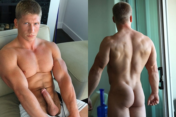 Super handsome athletic jock Hayden shows off his hot ripped body and shoots his big load in Hayden Up-Close at Fratmen