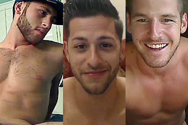Hot young athletic jocks Benny Wynn, Bobby Rivera and Chance Cruise jack off at Gayhoopla
