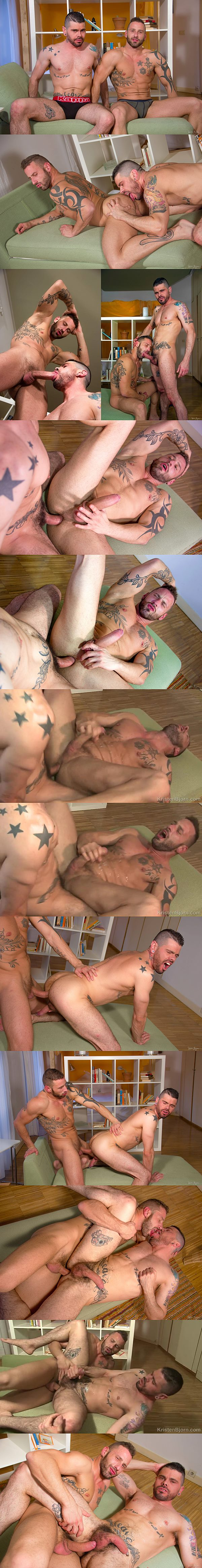 Antonio Miracle & Mario Domenech bareback flip-fuck with big cumshots in Lover's Lane 18 at Kristenbjorn 02
