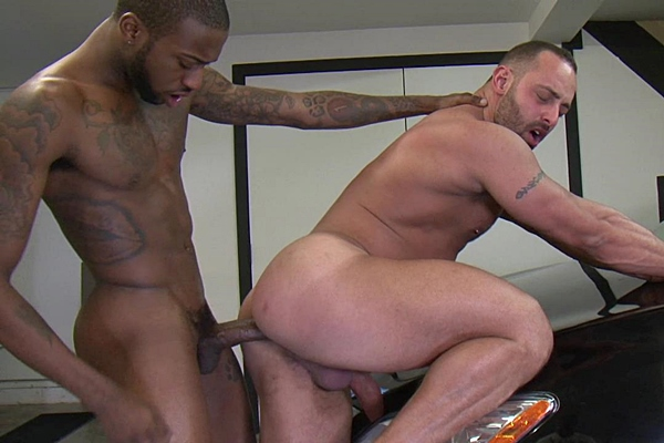 "10.5"" big-dicked Hot Rod barebacks and creampies Fabio Stallone in his muscle ass at Lucasentertainment"