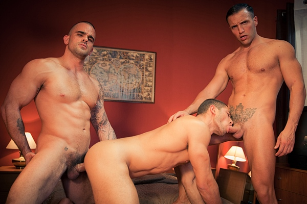 Damien Crosse fucks Dato Foland & Donato Reyes with hot double penetration in Hotel X Part 4 at Thegayoffice