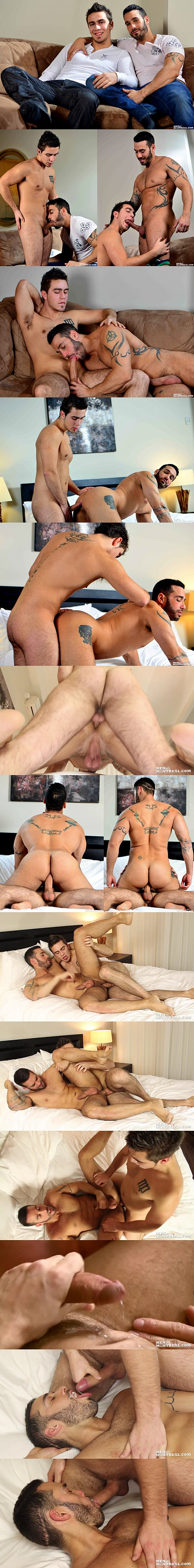 Hot new muscle jock Pascal Aubry fucks a huge load out of handsome Alexy Tyler in Breaking In The New Guy at Menofmontreal 02
