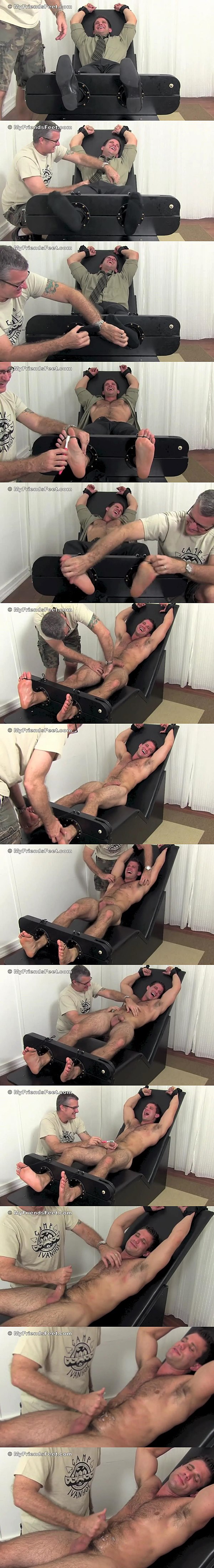 Hot muscle jock Cole Money gets jerked off and tickled at Myfriendsfeet 02