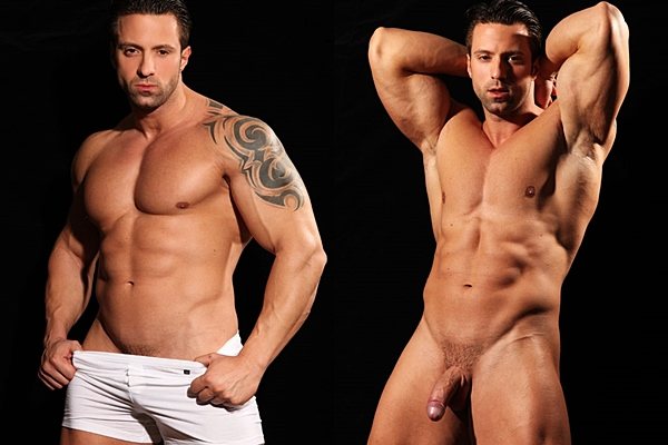 Sexy Italian muscle hunk Dante aka Angel Diablo shows off his hot muscular body and shoots his super big loads at Paragonmen
