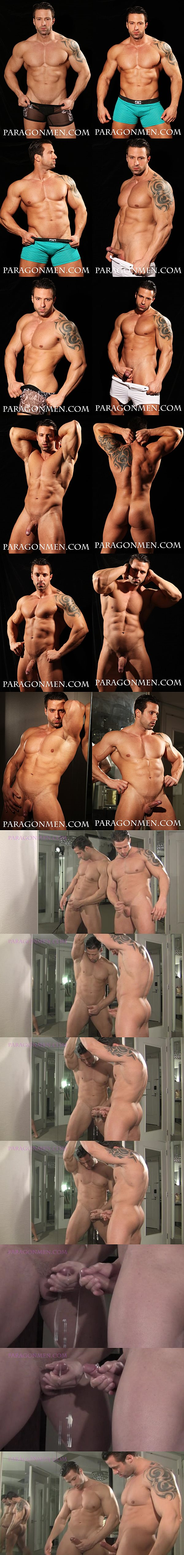 Sexy Italian muscle hunk Dante aka Angel Diablo shows off his hot muscular body and shoots his super big loads at Paragonmen 02