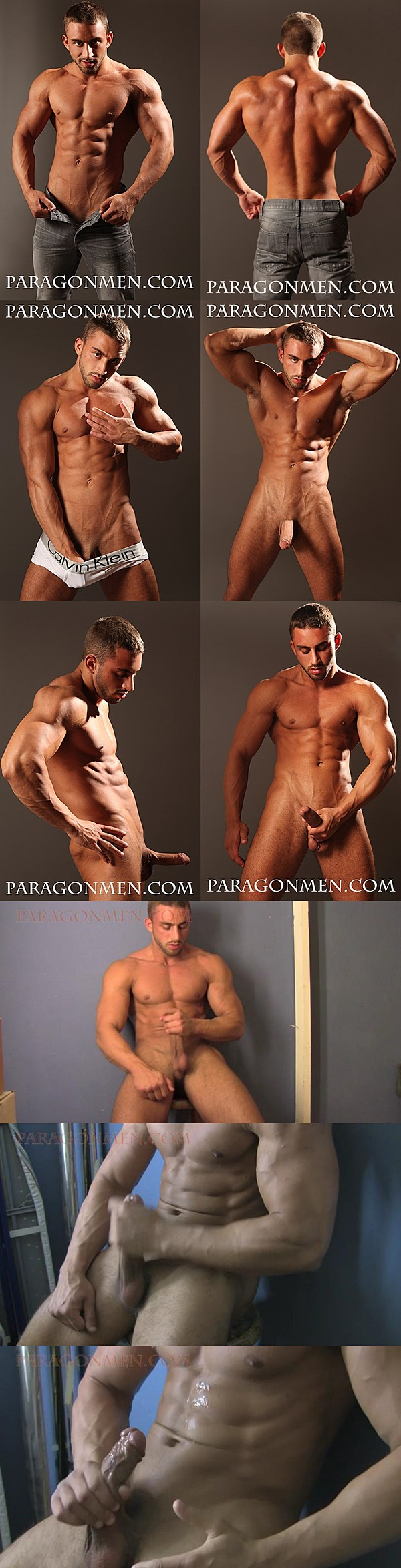 Handsome macho Francis shows off his hot ripped body and dumps his juicy load at Paragonmen