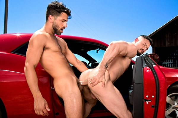 Adam Ramzi pounds hot muscle hunk Seven Dixon's tight ass in Open Road Part 1 at Ragingstallion