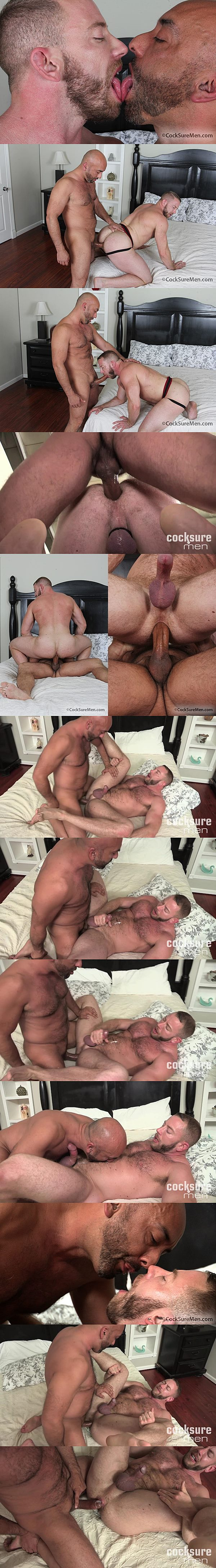Real life couple Brian Davilla barebacks and creampies Shay Michaels at Cocksuremen 02