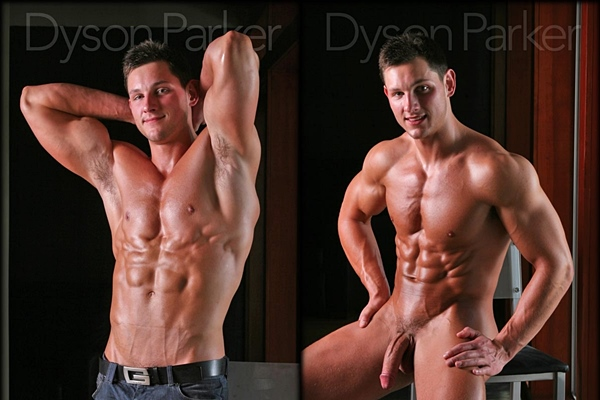 Super handsome straight stud Dyson Parker shoots more than 10 times at Legendmen