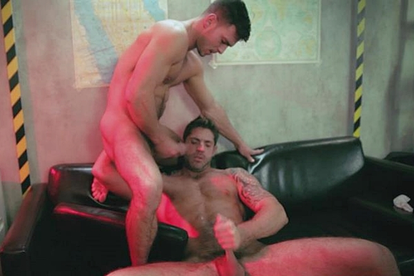 Paddy O'Brian power fucks handsome Axel Brooks in his hot muscle ass in The End Part 3 at Men 01