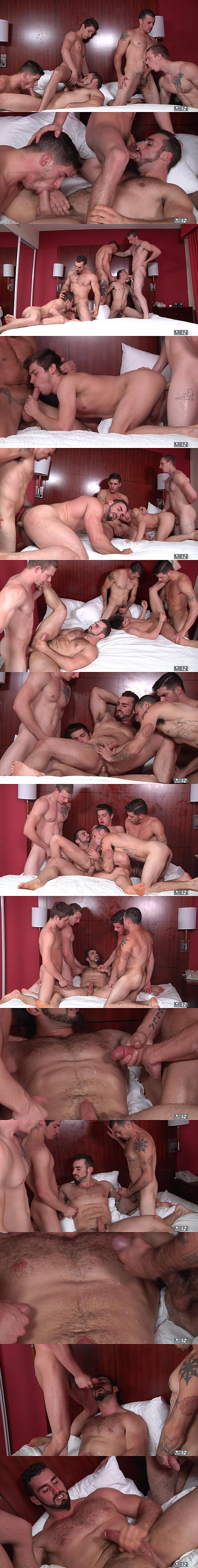 Jake Jammer, Johnny Forza & Ty Roderick Fuck Jaxton Wheeler & Johnny Rapid in There's Something About Johnny Part 5 at Jizzorgy 02