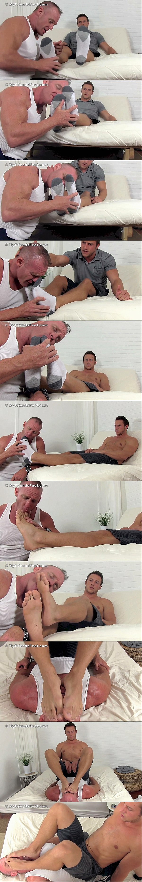 Hot muscle jock Kenny (aka Doc Tay Tay) dominates masculine foot slave Dev in Kenny is Dev's Foot Master at Myfriendsfeet 02