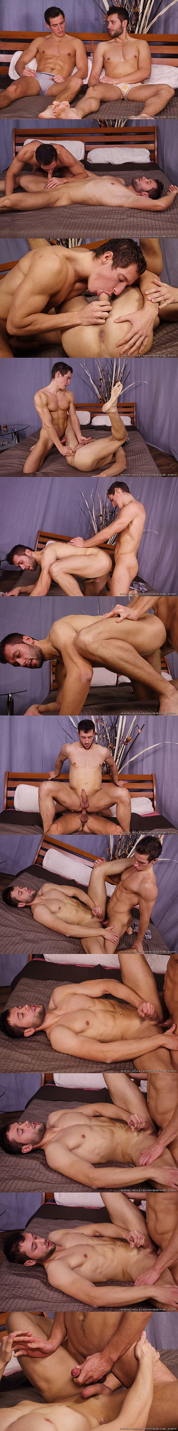 Felix Ryha fucks Milan Neoral's tight virgin ass before he fucks a big load out of Milan at Williamhiggins 02
