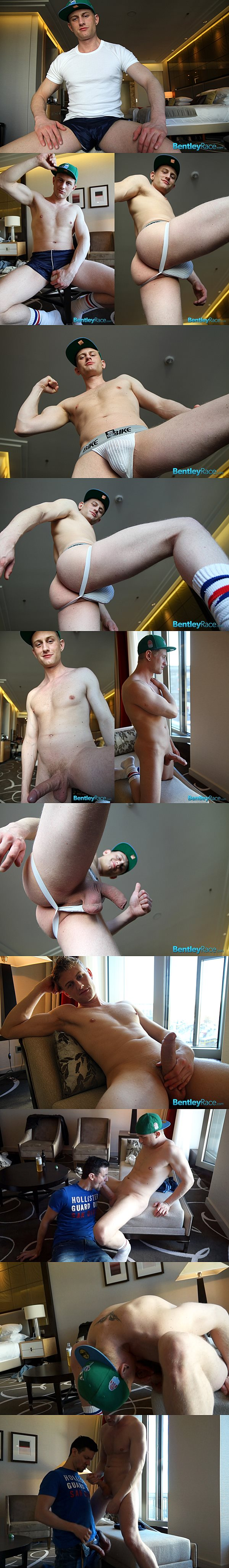 Hot blond Swedish jock Phillip Anderson shows off his huge uncut dick and dumps his big loads at Bentleyrace