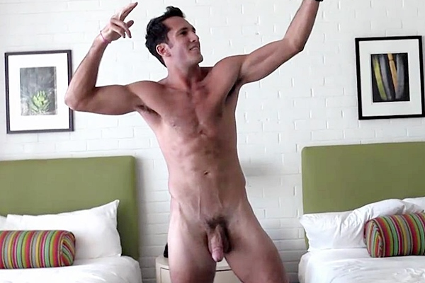 Hot newcomer, sexy runner Seth Rose shoots his three big loads at Gayhoopla