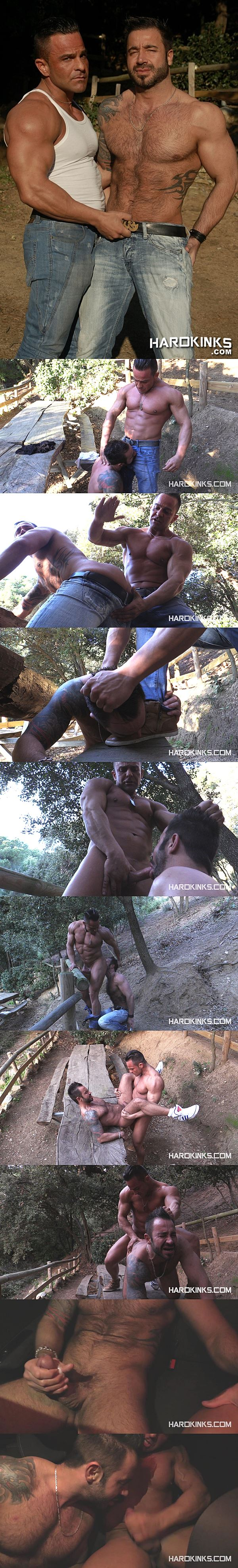 Hot straight muscle hunk Alex Brando fucks rugged handsome Martin Mazza at Hardkinks 02