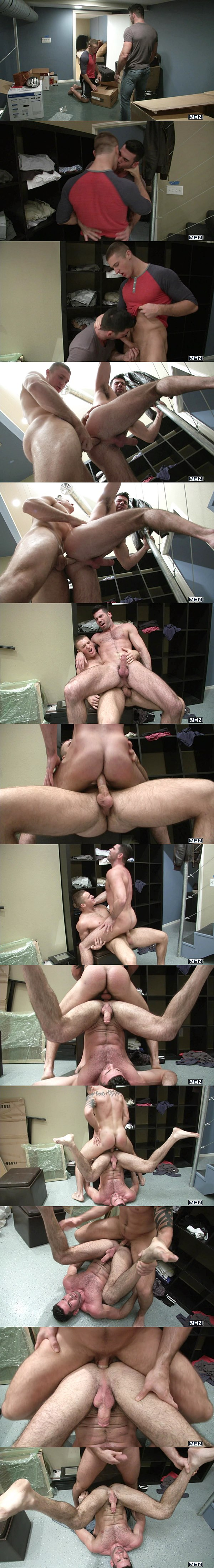 Muscle jock Connor Kline slams Billy Santoro's tight hairy ass in Talk To Me Right at Drillmyhole 02
