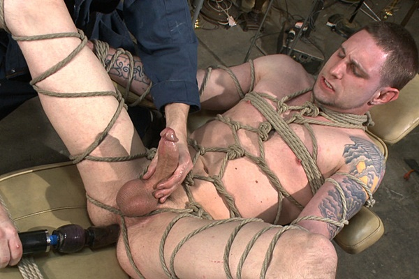 Big-dicked Jay Rising gets brutally Edged till cumming in Straight Stud with a Giant Cock Relentlessly Edged against His Will at Menonedge