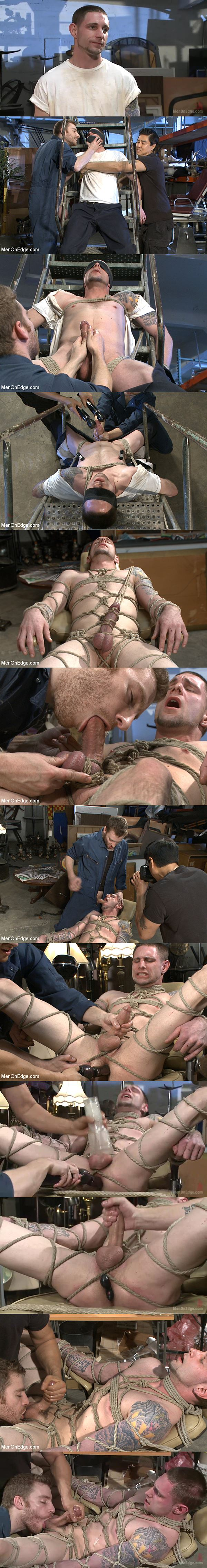 Big-dicked Jay Rising gets brutally Edged till cumming in Straight Stud with a Giant Cock Relentlessly Edged against His Will at Menonedge 02