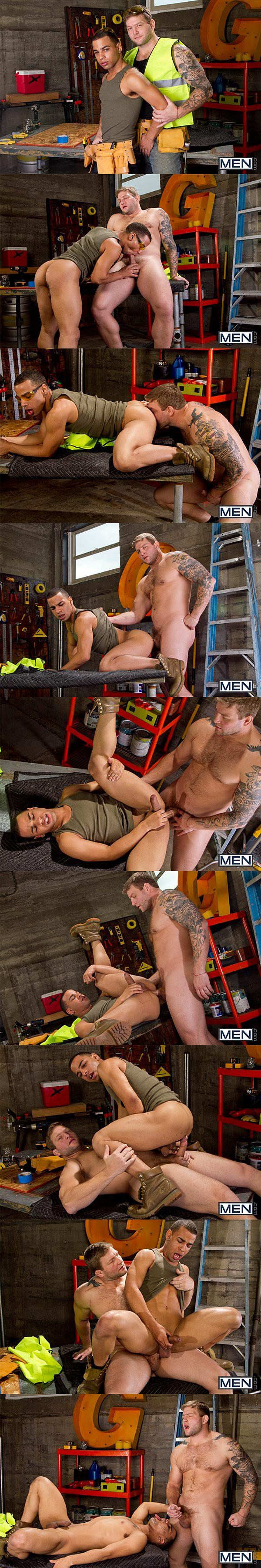 Colby Jansen rams Trelino till he fucks a big load out of Trelino in Drilling Deep at Str8togay 02
