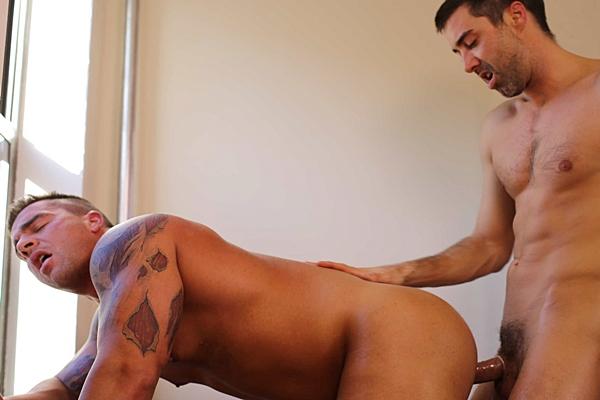 Macho studs Justin Beal & Braden Charron Flip-Fuck in Captive Part 3 at Drillmyhole