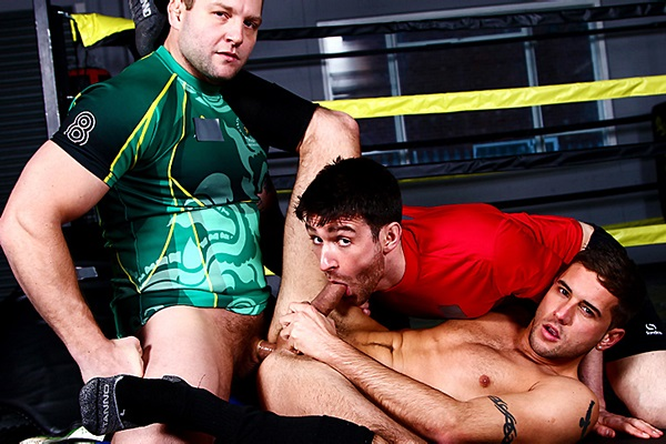 Colby Jansen and Woody Fox tag team handsome Dan Broughton in Scrum Part 6 at Menofuk