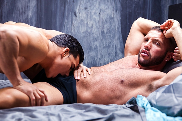 Power top Topher DiMaggio pounds Donato Reyes in Suite 33 Part 1 at Men